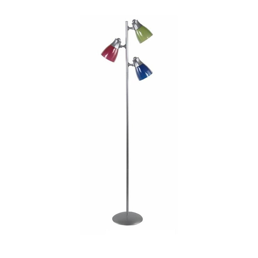 Style Selections 65-in Silver Desk Lamp with Plastic Shade
