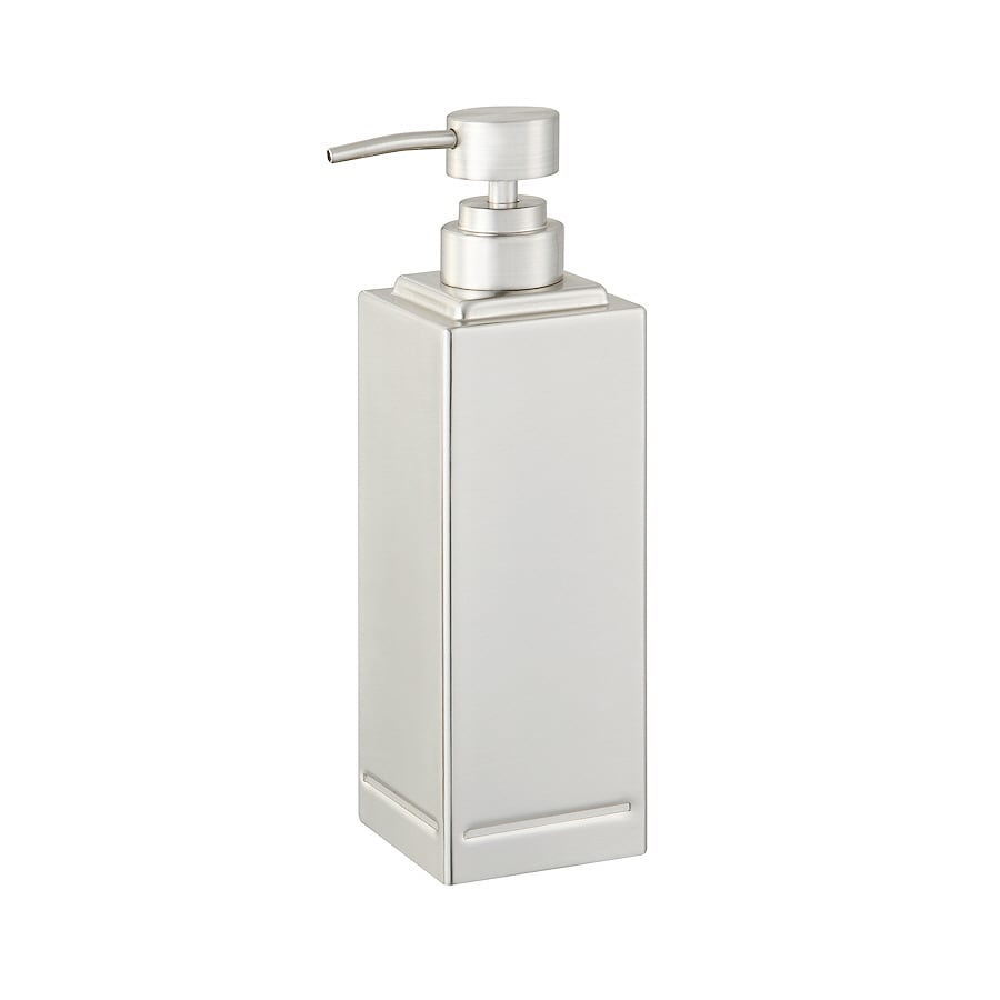allen + roth Brushed Nickel Soap/Lotion Dispenser