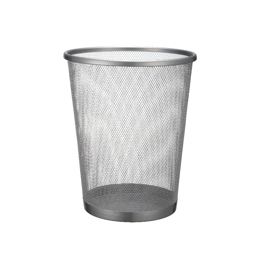 Waste Baskets Shop Mesh Silver Metal Wastebasket At Lowes