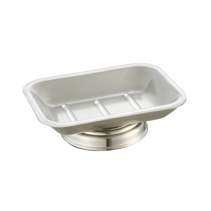 Shop Allen Roth Mitchell Brushed Nickel Metal Soap Dish