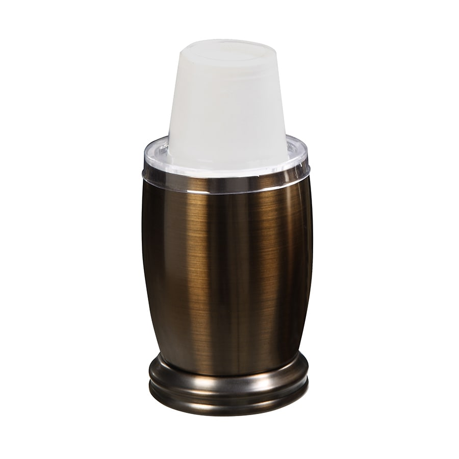 shop forsyth oil rubbed bronze metal disposable cup
