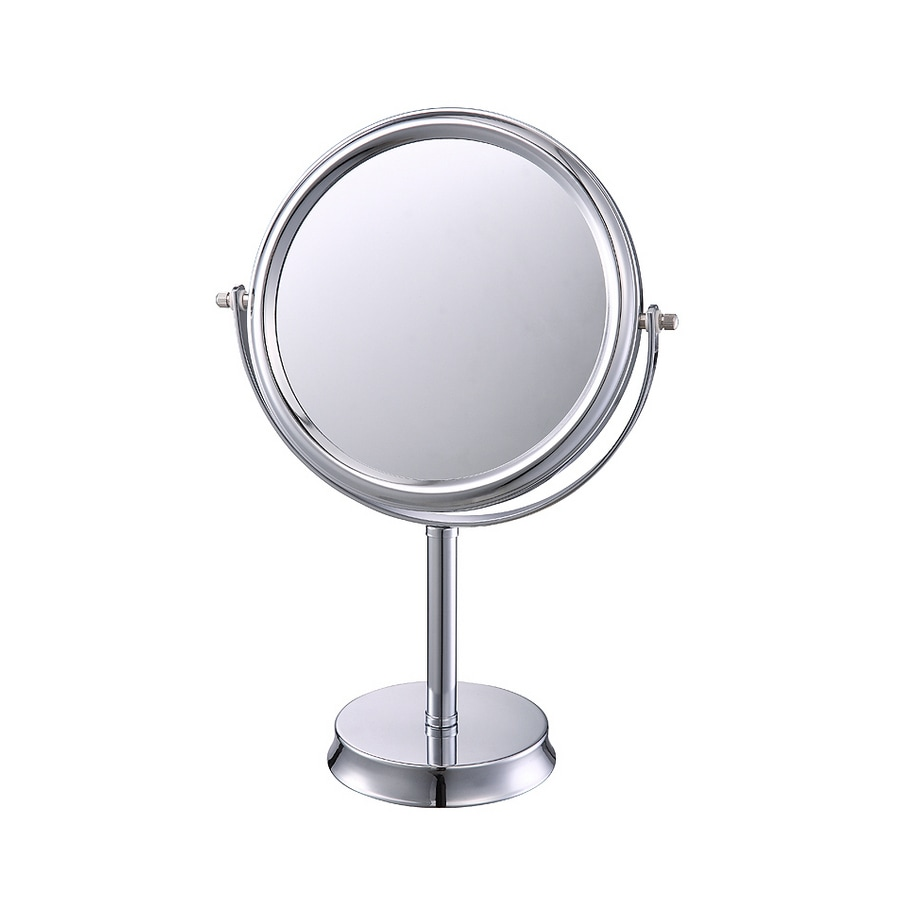allen + roth Brinkley Chrome Metal Countertop Vanity Mirror