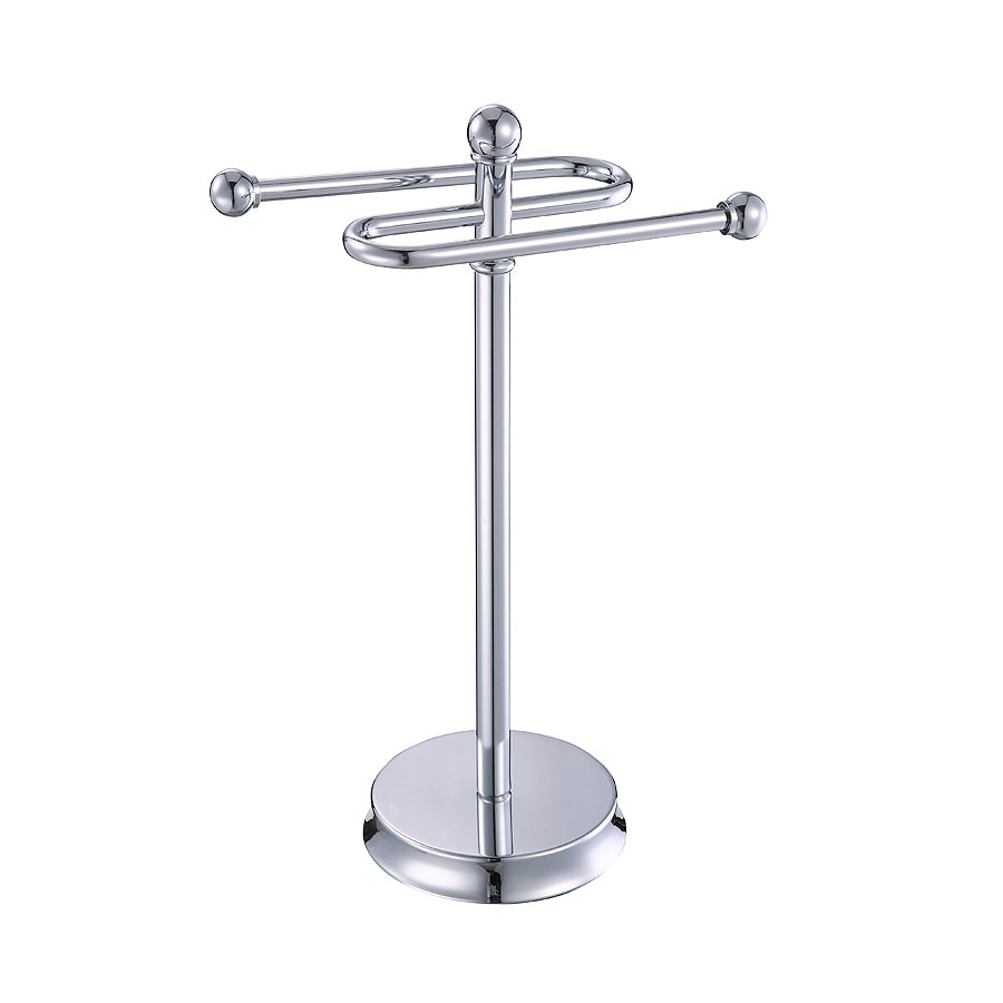 allen + roth Brinkley Polished Chrome Metal Towel Rack