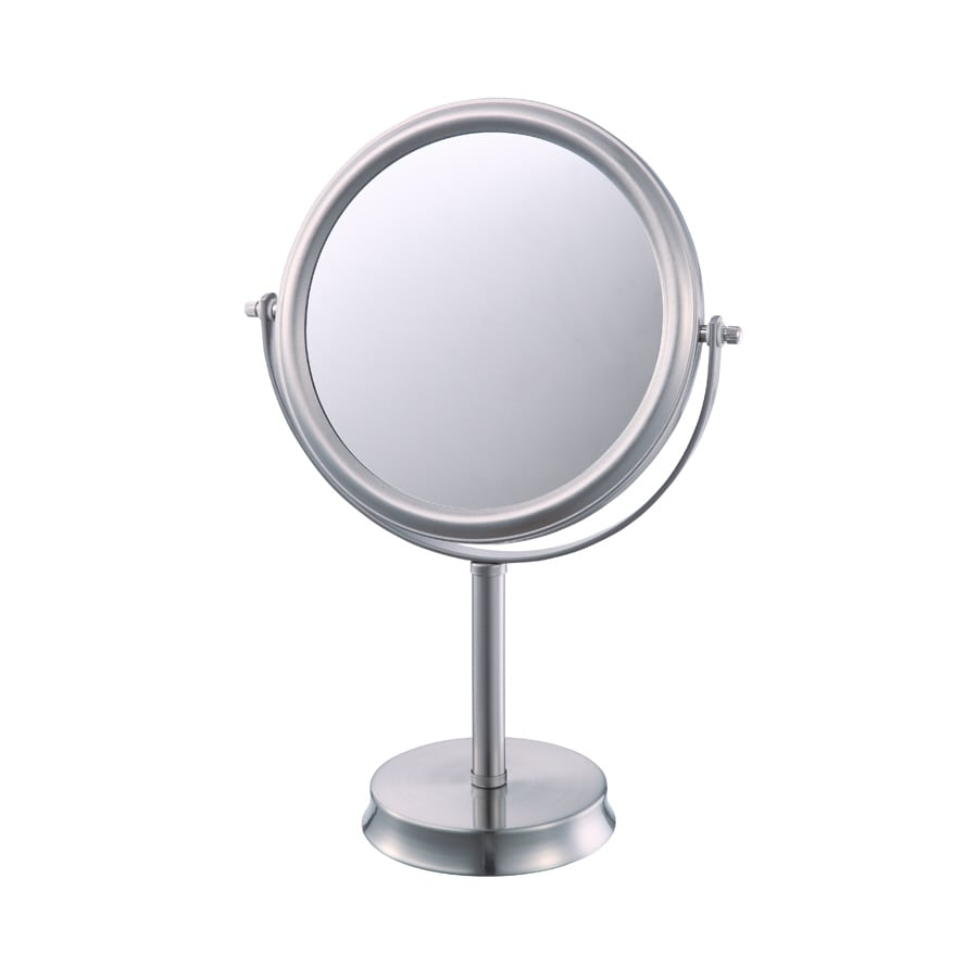 allen + roth Brinkley Nickel Mirrored Glass/Metal Countertop Vanity Mirror