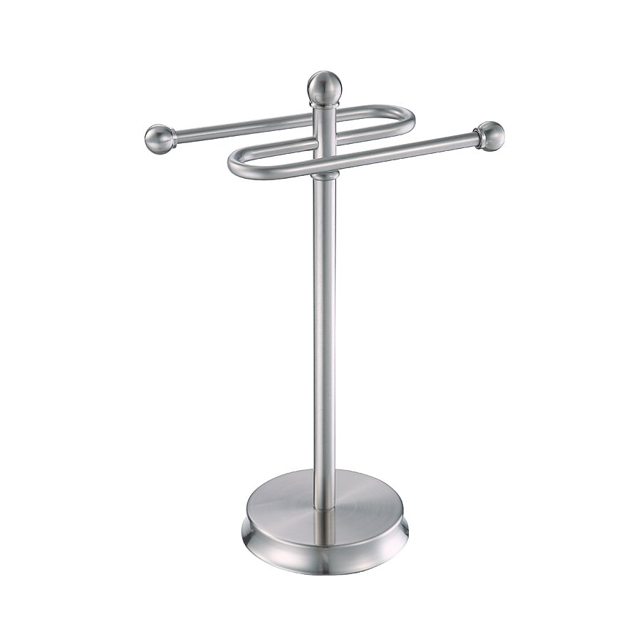 Shop allen + roth Brinkley Brushed Nickel Metal Towel Rack at Lowes.com