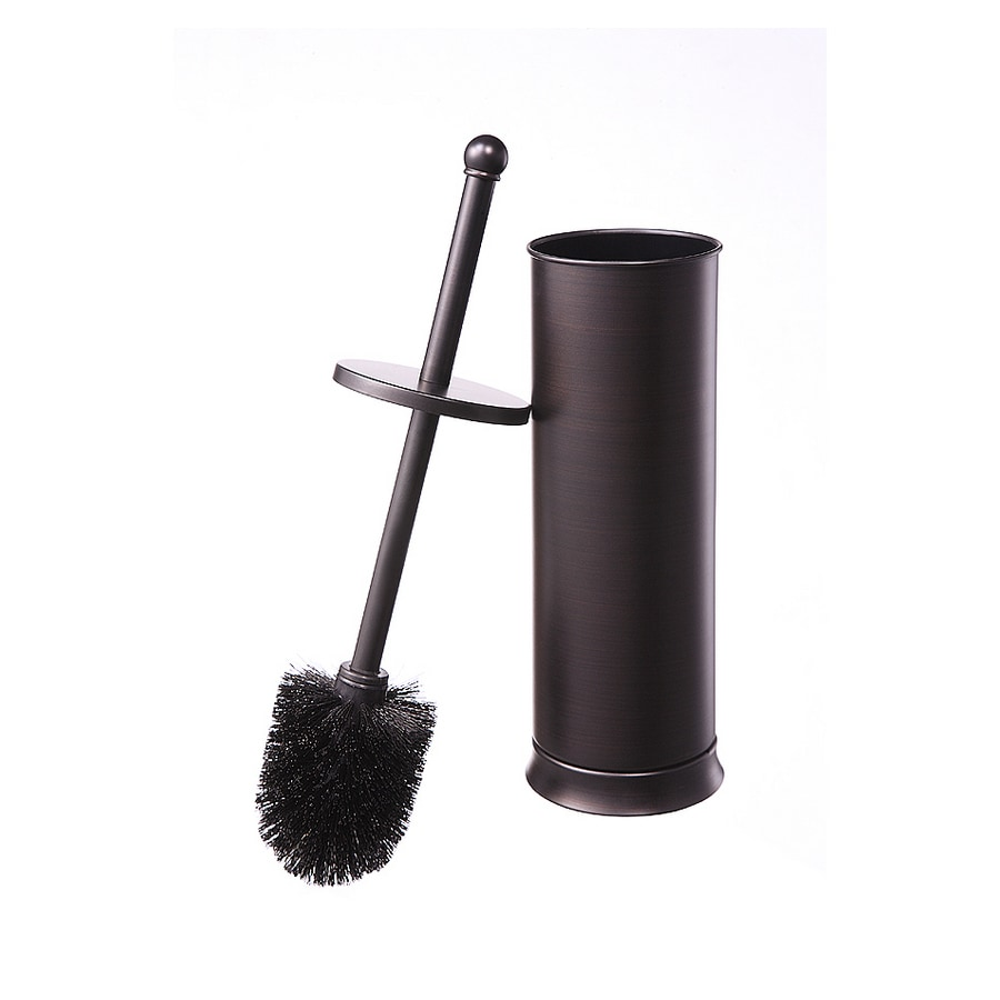 allen + roth Brinkley Handsome Oil Rubbed Bronze Metal Toilet Brush Holder