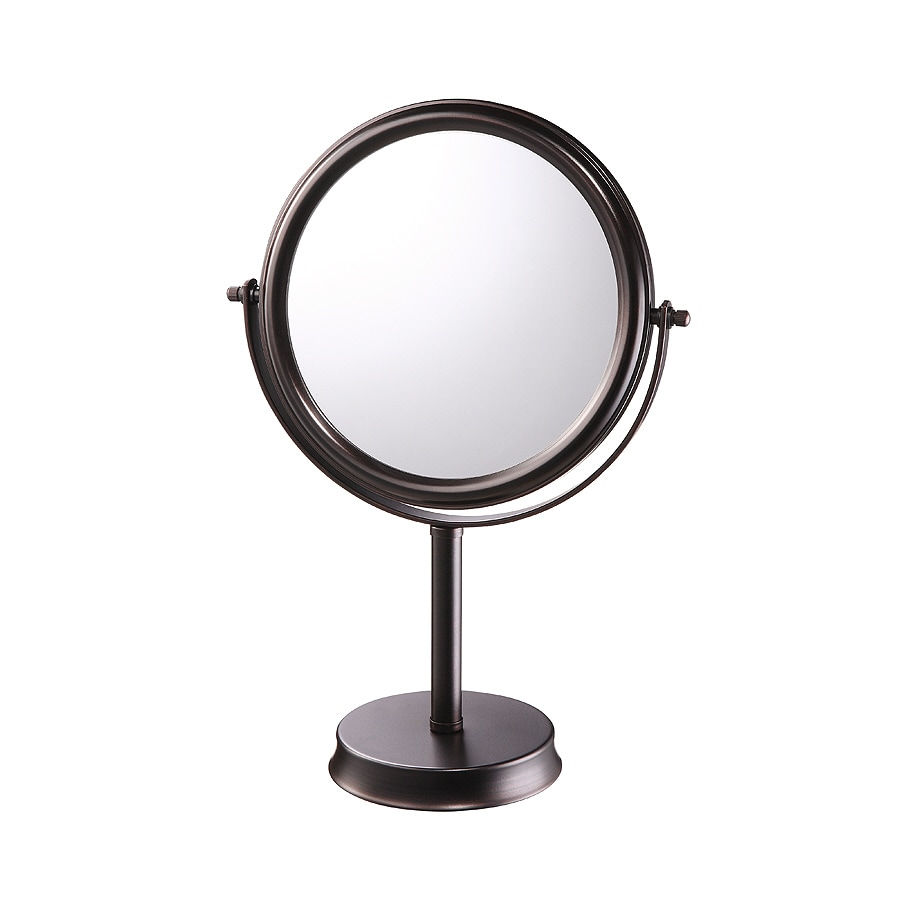 Shop allen + roth Brinkley Bronze Mirrored Glass/Metal Countertop Vanity Mirror at Lowes.com
