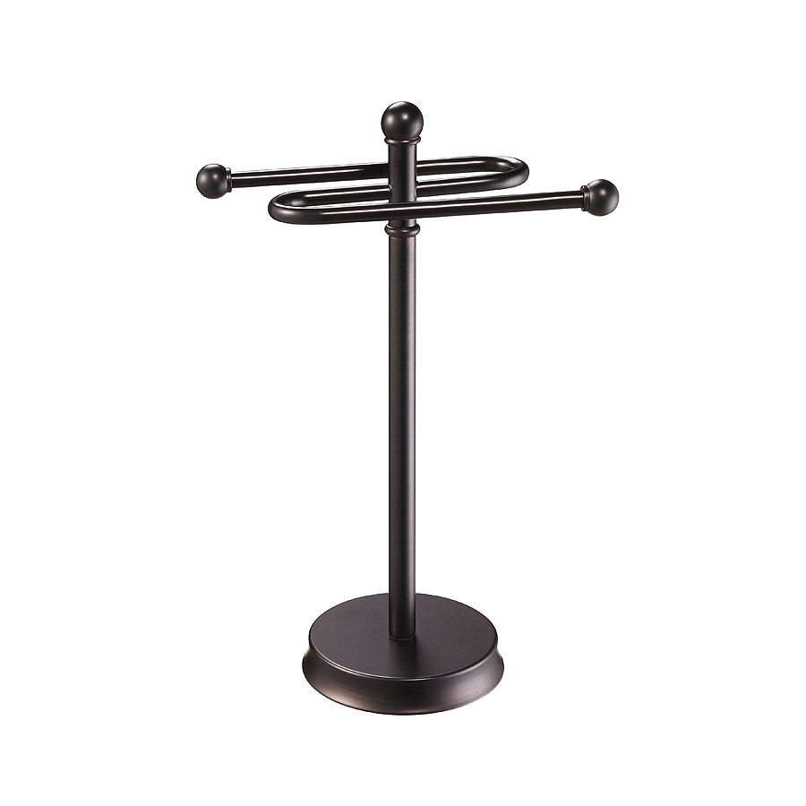 allen + roth Brinkley Oil Rubbed Bronze Metal Towel Rack