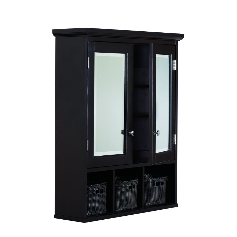 rectangle surface mirrored mdf medicine cabinet at