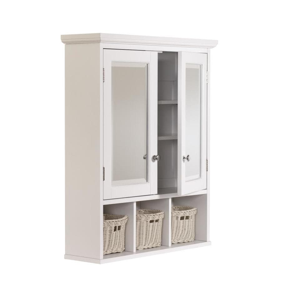 Allen Roth 24 75 In X 30 25 Rectangle Surface Mdf Medicine Cabinet White Manufacturer