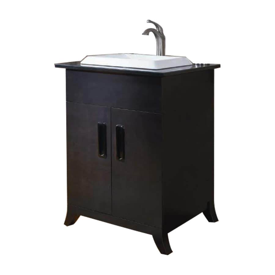 shop allen roth single sink bathroom vanity with top common 24 in x 21 in actual 24 in x. Black Bedroom Furniture Sets. Home Design Ideas