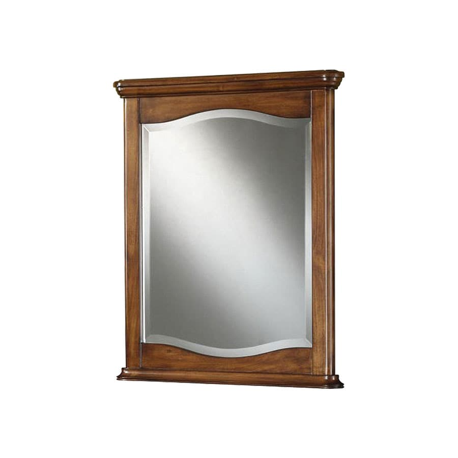 Merveilleux DAVIDSON WOODCRAFTERS Savannah 24 In X 30 In Brown Rectangular Framed Bathroom  Mirror