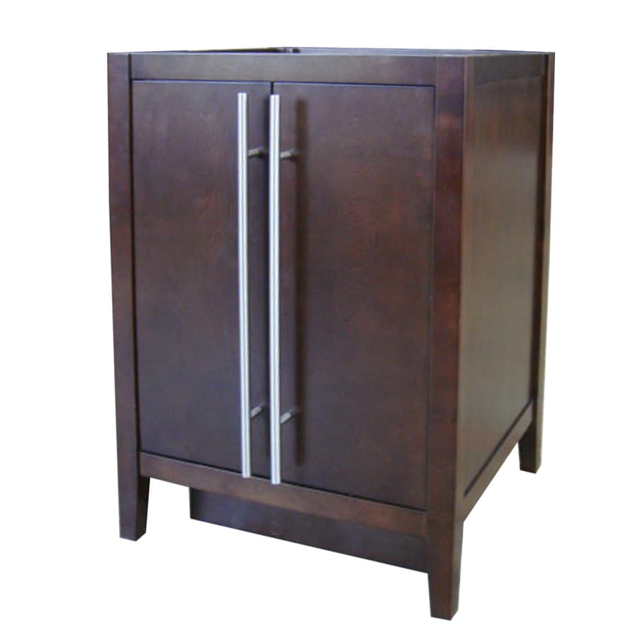 Shop Allen Roth Frankfort Cocoa Bathroom Vanity Common 24 In X 21 In Actual 24 In X 21 In
