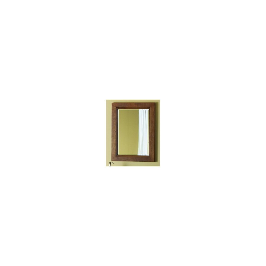 allen + roth 26-in H x 20-in W Burbank Sable Rectangular Bathroom Mirror