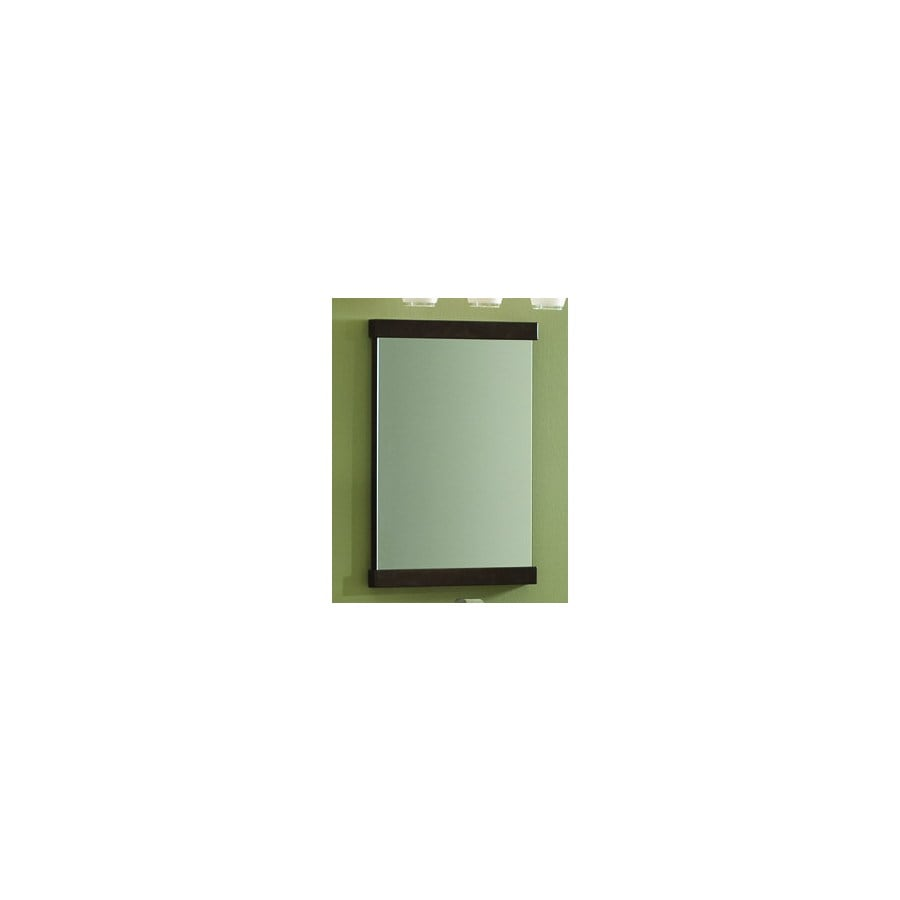 allen + roth Frankfort 18.5-in W x 26-in H Cocoa Rectangular Bathroom Mirror