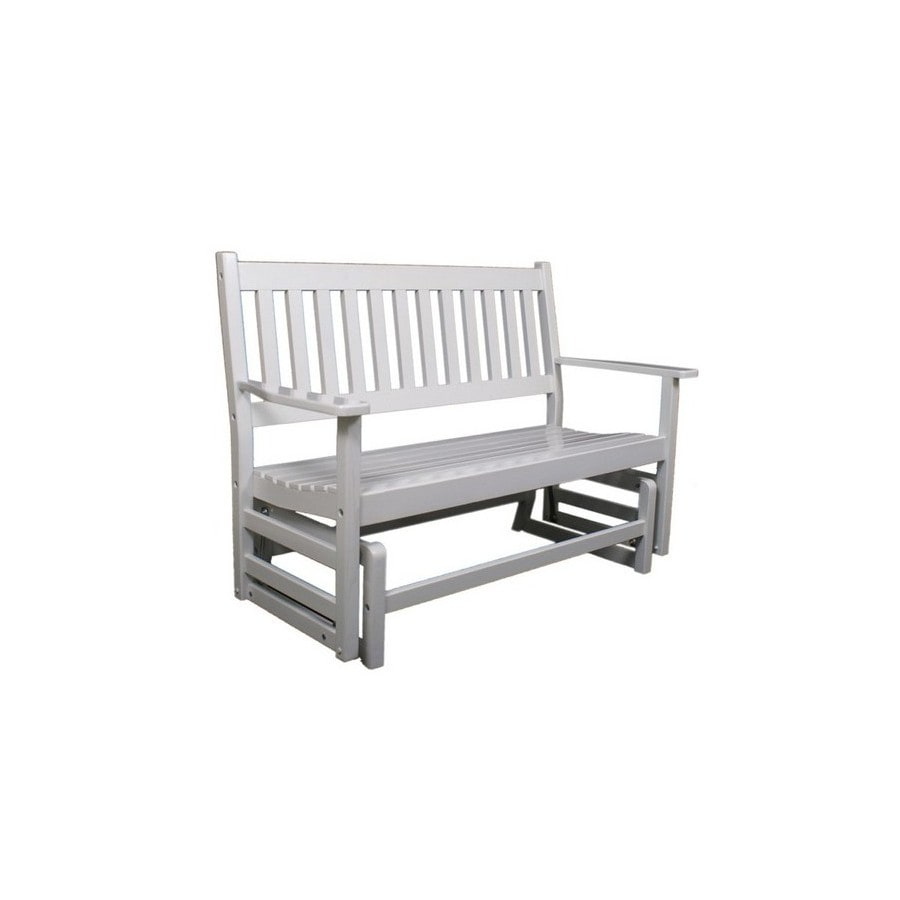 Garden Treasures 2-Seat Wood Traditional  4-Ft Wood Glider