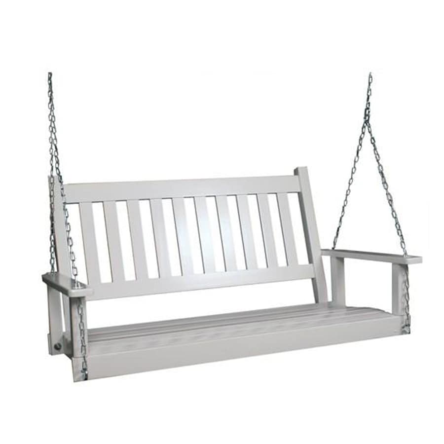 Garden Treasures 2-Seat Wood Traditional  4-Ft Porch Swing