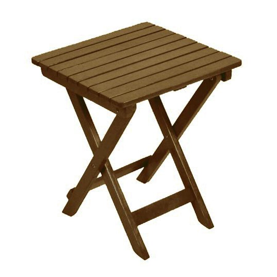 Garden Treasures 15.25-in x 17-in Natural Wood Rectangle Patio End Table