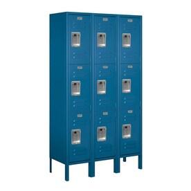 Salsbury Industries 15 In Wide Four Tier Metal Locker 15 In W X 78 In H X 18 In D Steel Full Storage Lockers In The Lockers Department At Lowes Com