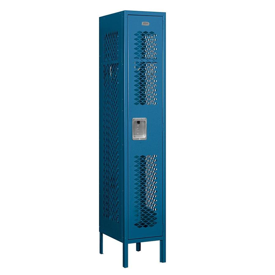 Salsbury Industries 12 In Wide Single Tier Vented Metal Locker 1 Wide 5 Ft High 15 In Deep Blue Unassembled In The Lockers Department At Lowes Com