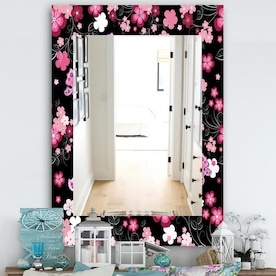 Designart 23 6 In L X 23 6 In W Rectangular White Polished Wall Mirror In The Mirrors Department At Lowes Com