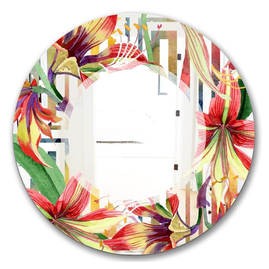 Designart Designart Ftelementary Botanicals 3 Ft Farmhouse Mirror Oval Or Round Vanity Mirror In The Mirrors Department At Lowes Com