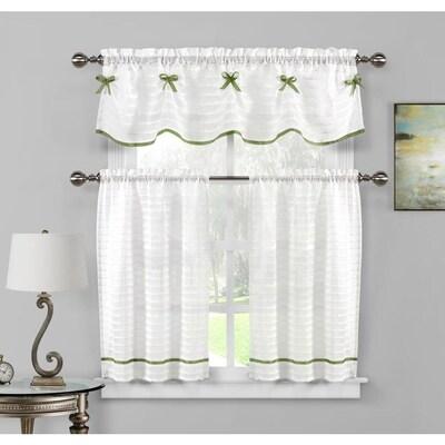 Curtain Panel Pair Semi Sheer Curtains Drapes At Lowes Com