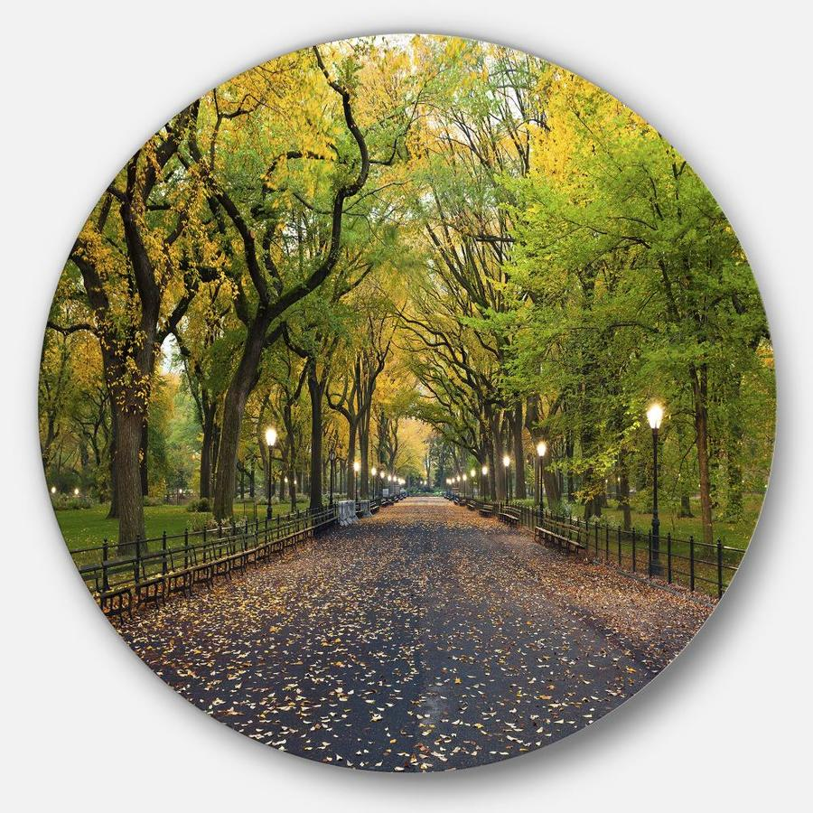 Designart The Mall Area In Central Park Disc Large Landscape Metal Circle Wall Art In The Wall Art Department At Lowes Com