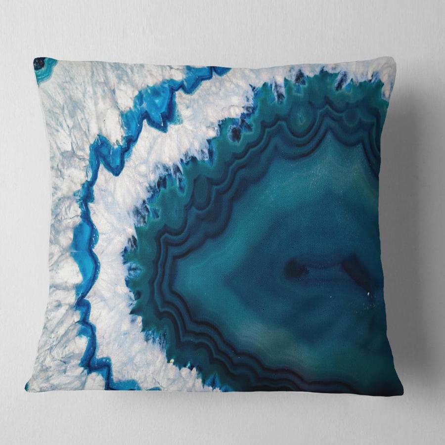 Designart 16 In W X 16 In L Blue Polyester Square Indoor Decorative Pillow In The Throw Pillows Department At Lowes Com