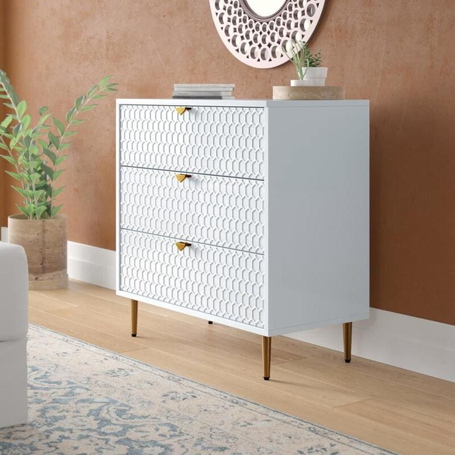 CASAINC Storage Cabinet Side Table with 10 Drawer for Bedroom and