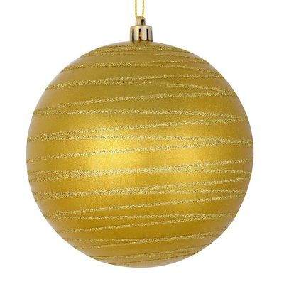 Vickerman 3 Pack Gold Ornament In The Christmas Ornaments Department At Lowes Com