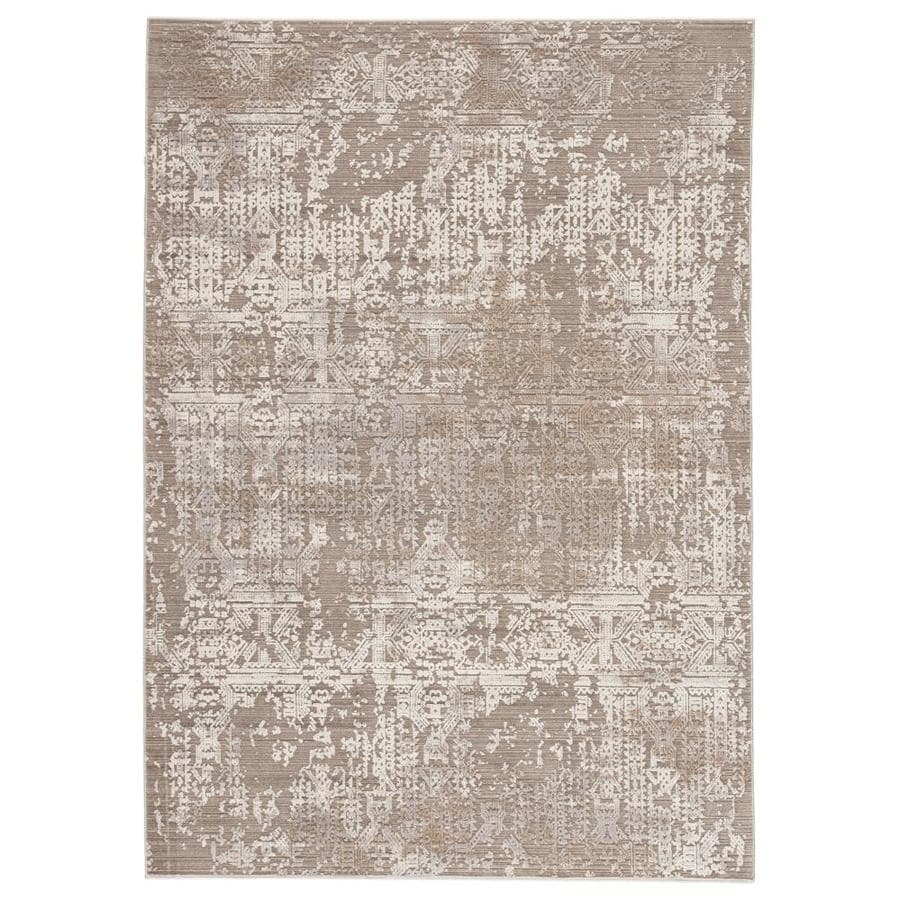 Jaipur Living Brienne 4 X 5 Gray Light Taupe Indoor Abstract Area Rug In The Rugs Department At Lowes Com