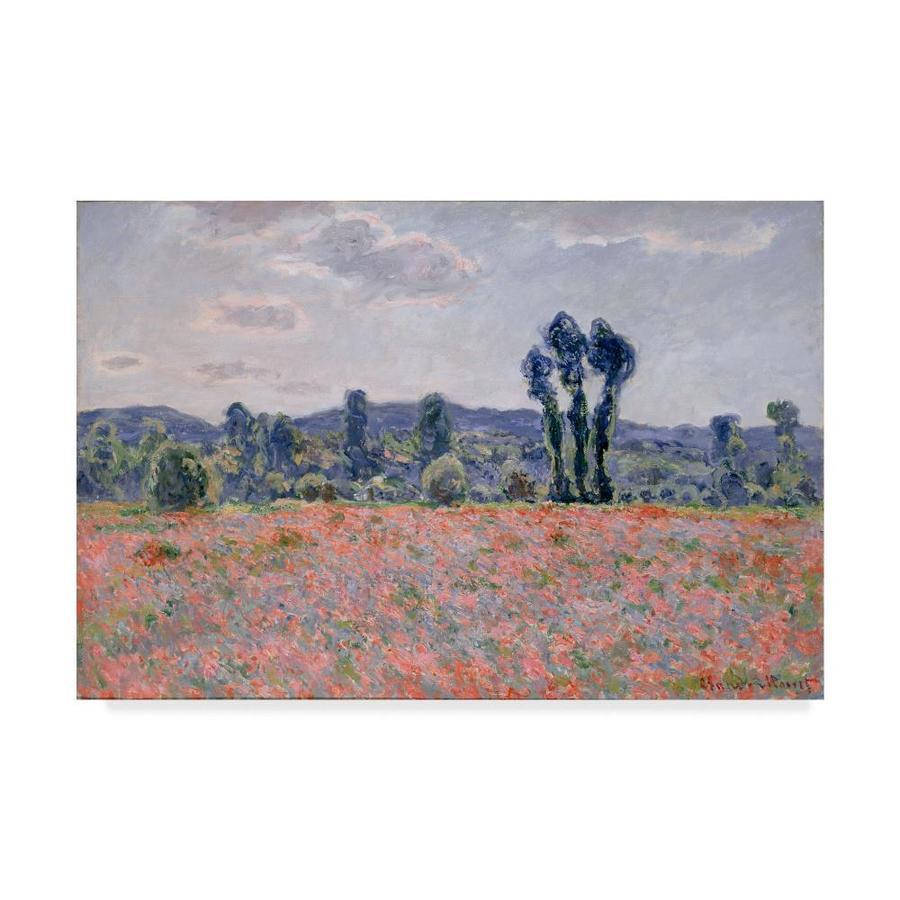 Trademark Fine Art Claude Monet Poppy Field 22x32 Canvas Art In The Wall Art Department At Lowes Com