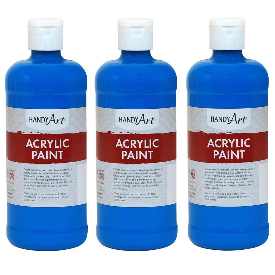 Handy Art Cobalt Blue Water Based Paint 1 Pint In The Craft Paint Department At Lowes Com