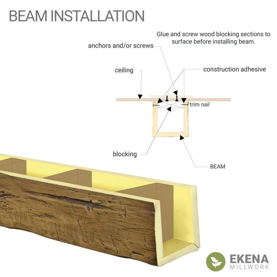 Ekena Millwork Knotty Pine 6 In X 8 In X 120 In Premium Aged Prefinished Polyurethane Decorative Beam In The Faux Beams Department At Lowes Com