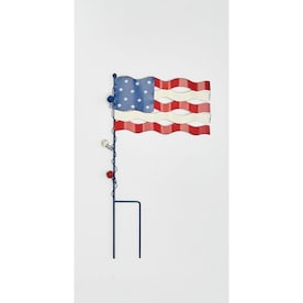 Worth Imports 35 In Americana Heart Garden Stake In The Fourth Of July Decorations Department At Lowes Com