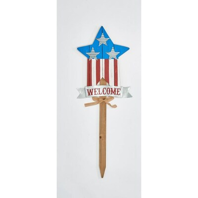 Worth Imports 35 In Americana Star Garden Stake In The Fourth Of July Decorations Department At Lowes Com