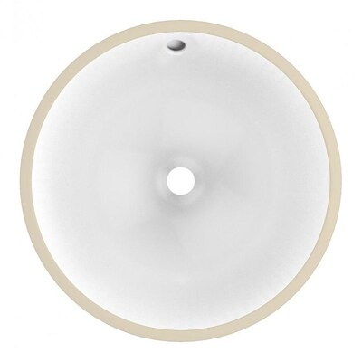 American Imaginations White Ceramic Undermount Round Bathroom Sink With Overflow Drain 14 3 In X 14 3 In In The Bathroom Sinks Department At Lowes Com