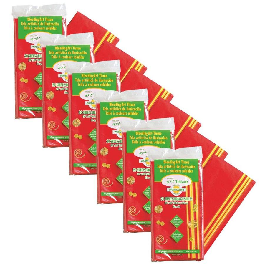 Spectra Deluxe Bleeding Art Tissue 10 Color Warm Assortment 20 In X 30 In 20 Sheets Per Pack 6 Packs In The Tissue Paper Department At Lowes Com