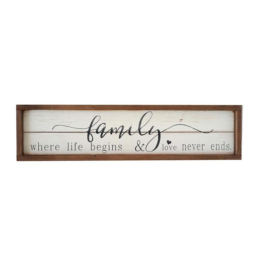 Parisloft Family Where Life Begins Wooden Sign In The Wall Art Department At Lowes Com