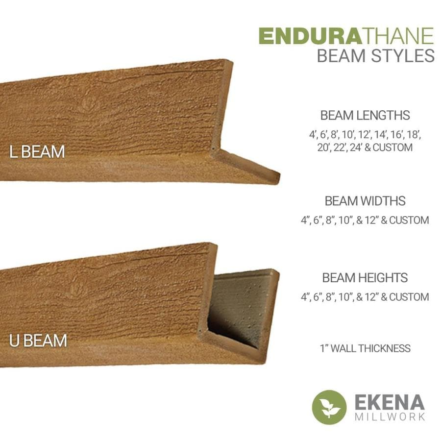 Ekena Millwork Knotty Pine 4 In X 12 In X 192 In Premium Walnut Prefinished Polyurethane Decorative Beam In The Faux Beams Department At Lowes Com