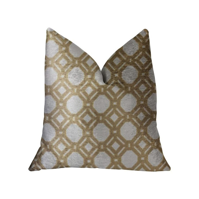 Plutus Brands Medallion Eclipse Beige And Gray Luxury Throw Pillow 12in X 20in In The Throw Pillows Department At Lowes Com