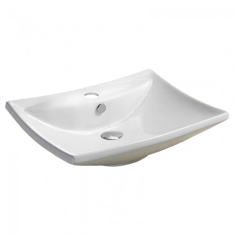 American Imaginations 23 8 In W Above Counter White Vessel For 1 Hole Center Drilling In The Bathroom Sinks Department At Lowes Com