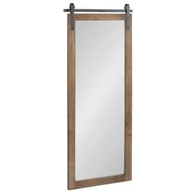 Homeroots Victoria 1 26 In L X 15 94 In W Brown Framed Wall Mirror In The Mirrors Department At Lowes Com
