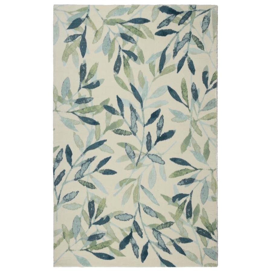 Zig Zag Ash 7 X 9 Sage Indoor Floral Botanical Area Rug In The Rugs Department At Lowes Com