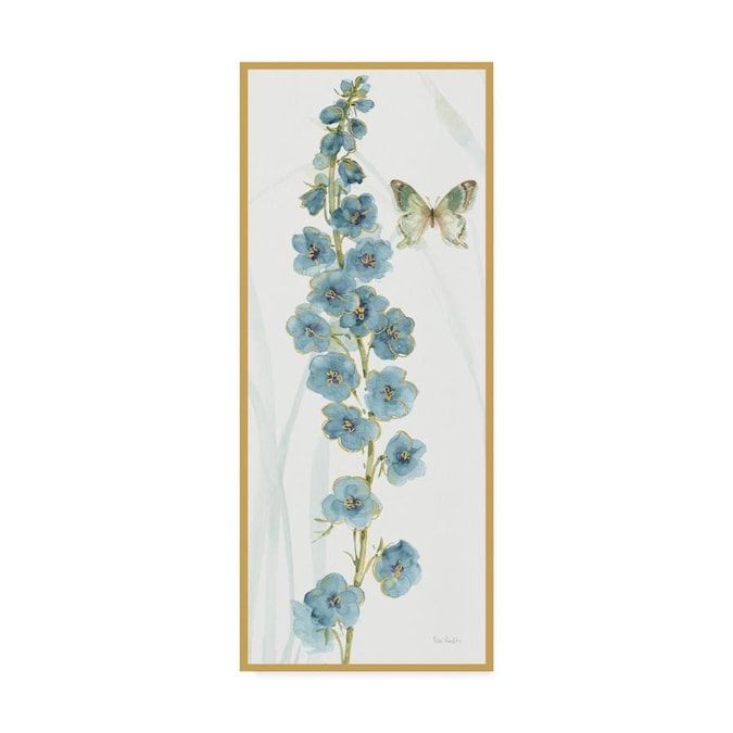 Trademark Fine Art Lisa Audit Rainbow Seeds Flowers Vi Butterfly 14x32 Canvas Art In The Wall Art Department At Lowes Com