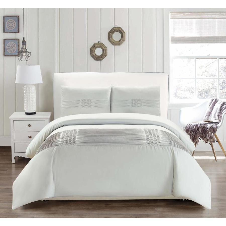 Duck River Textile Geonna 3 Piece Glacier Full Queen Duvet Set In The Bedding Sets Department At Lowes Com