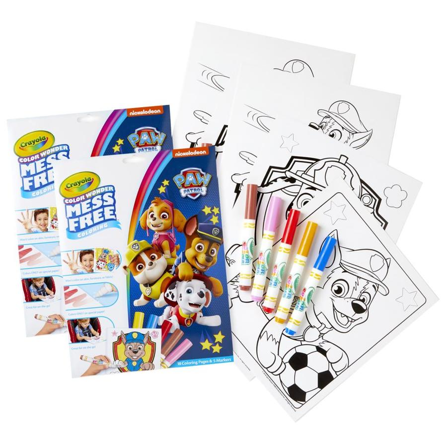 Crayola Color Wonder Mess Free Coloring Pad And Markers, Paw Patrol, 2 Sets  In The Books Department At Lowes.com
