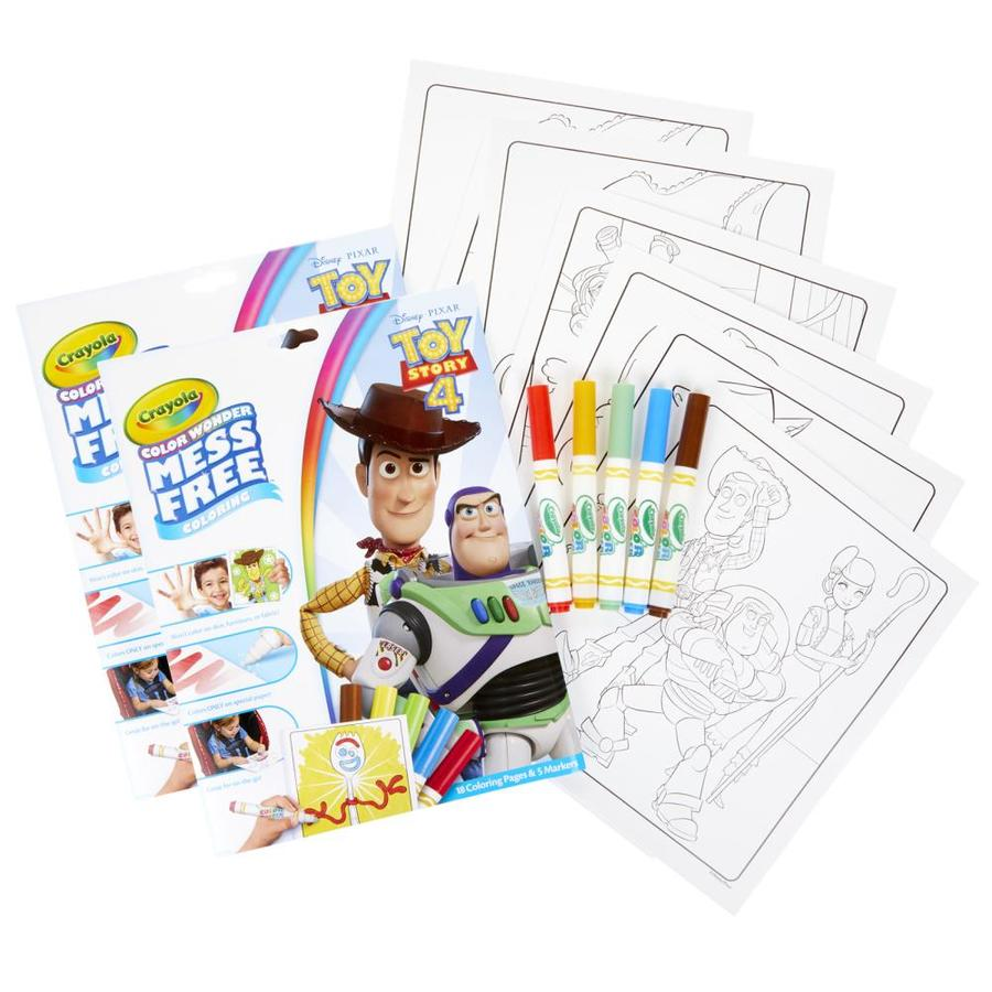 Crayola Color Wonder Mess Free Coloring Pad And Markers, Toy Story 4, 2  Sets In The Books Department At Lowes.com