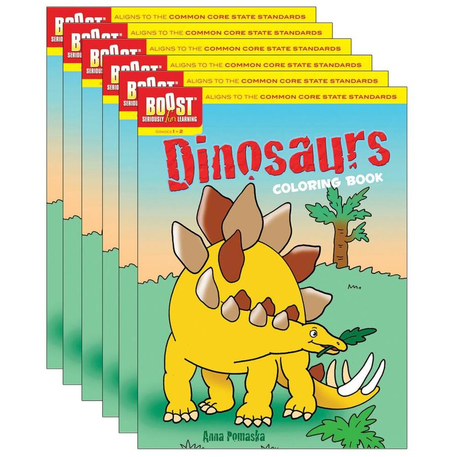 Dover Publications BOOST Dinosaurs Coloring Book, Pack Of 6 In The Books  Department At Lowes.com
